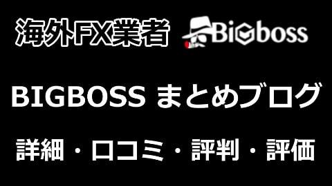 BIGBOSSの口コミ・評判・詳細・評価・レビュー・比較 【BIGBOSSブログ 海外FX】