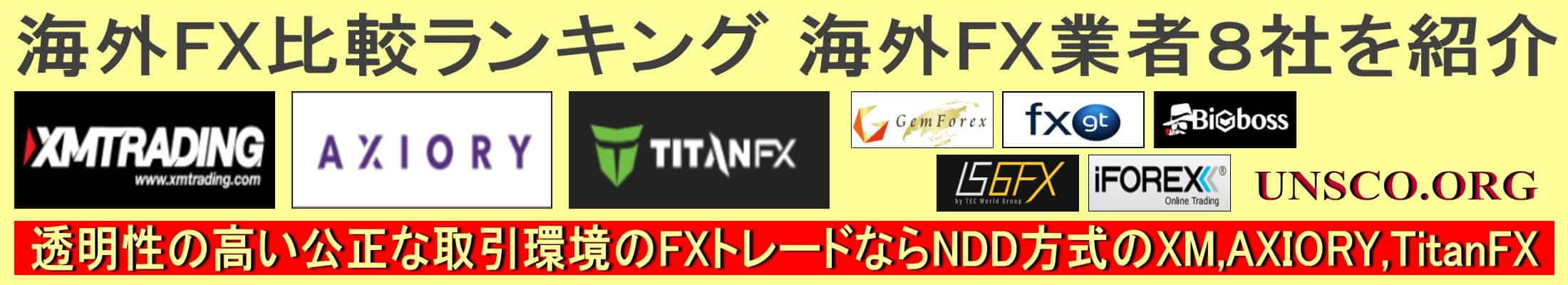 海外FX比較ランキング おすすめの海外FX業者を厳選して紹介